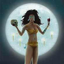 Voodoo Moon Wine Label