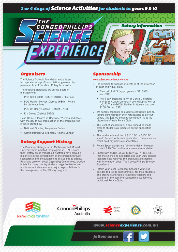Science Experience 2014 design